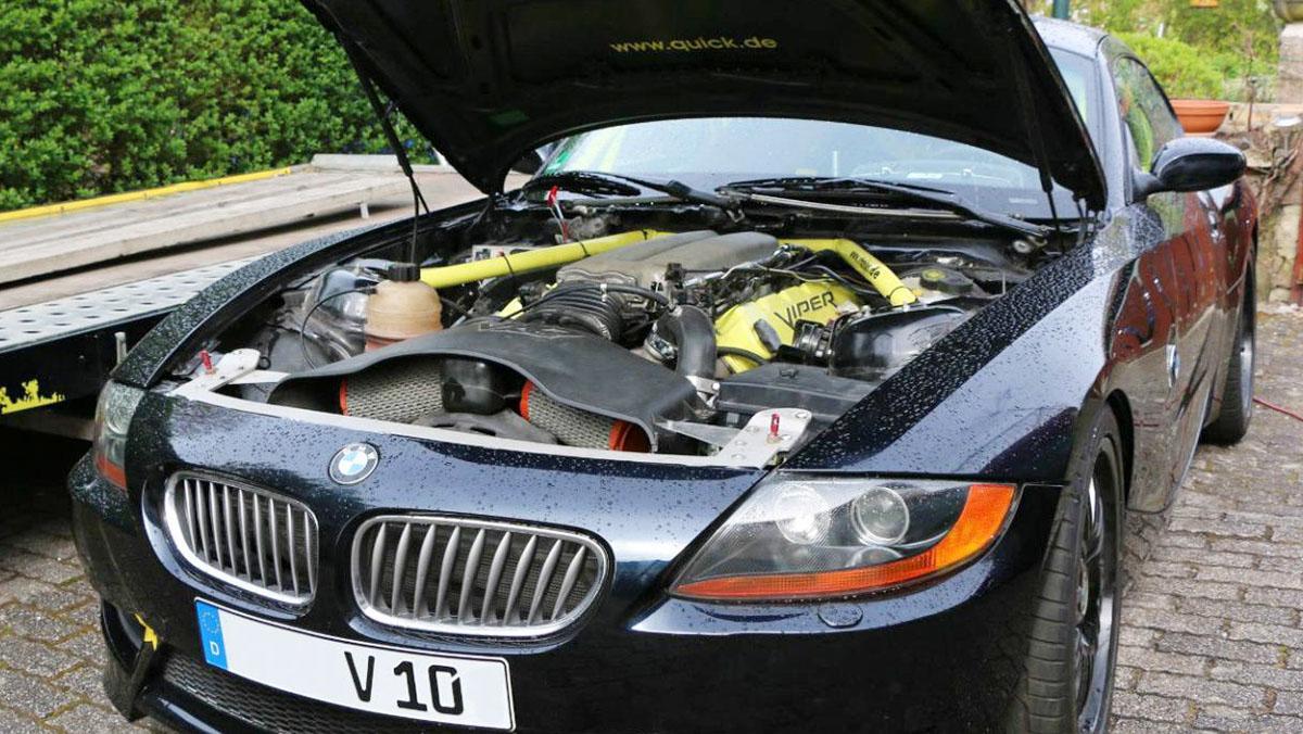 El BMW Z4 con motor V10 de Dodge Viper