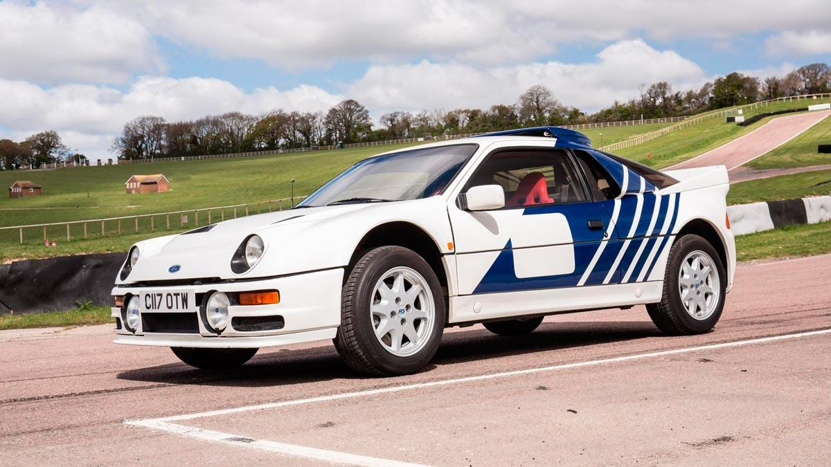 Ford RS200 Grupo B deportivo clásico a la venta blanco brutal