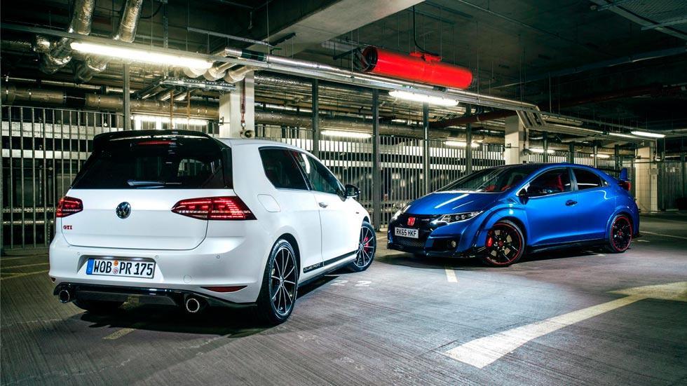 Honda Civic Type R Volkswagen Golf GTI Clubsport deportivo lujo compacto