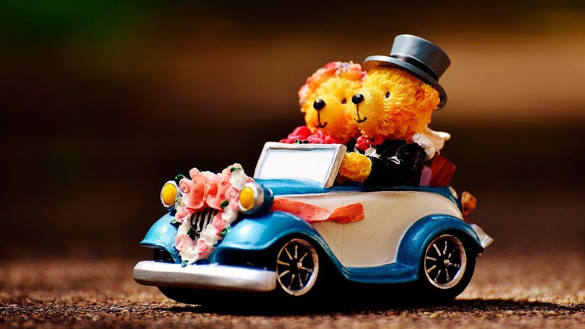 coche de boda juguete raton ratones clásico