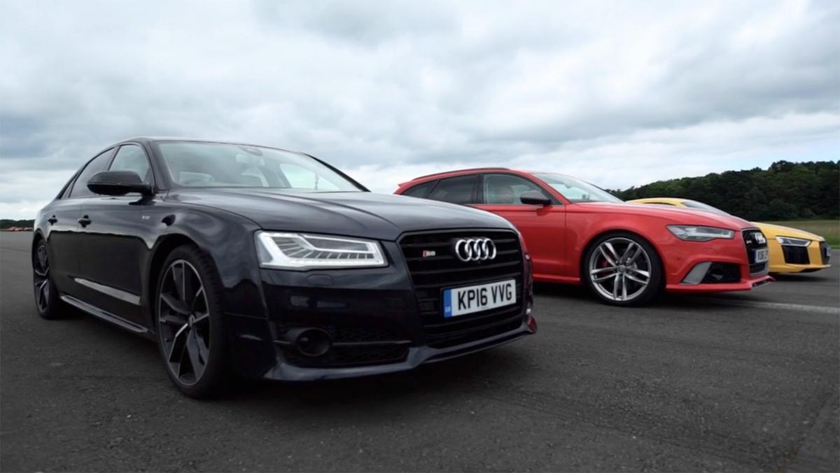 Drag Race entre Audis
