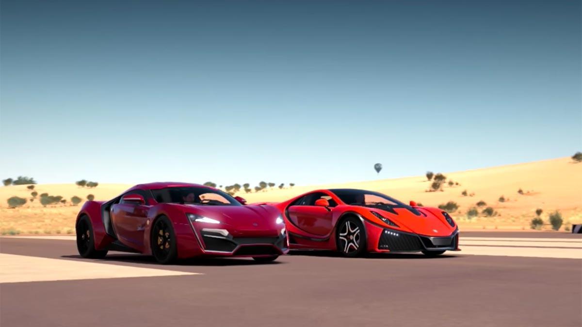 Lykan Hypersport GTA Spano drag rage Forza Horizon 3 hyperdeportivos virtual videojuego