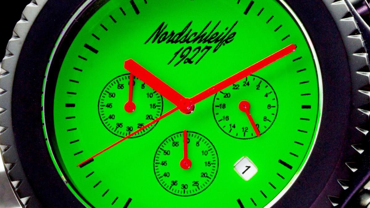 Reloj Nordschleife Green Hell: ¡con todo el encanto de Nürburgring!