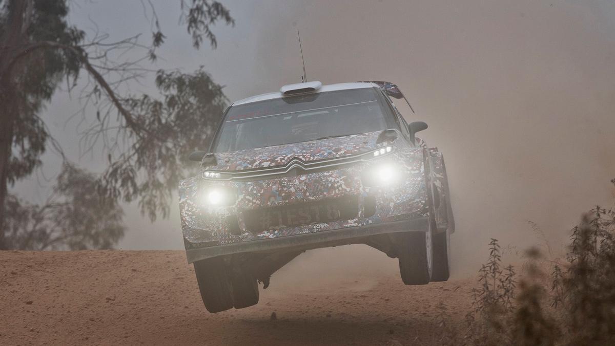 Test Citroen C3 WRC 2017 (V)