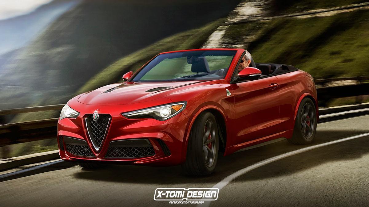 Alfa Romeo Stelvio descapotable SUV lujo render dibujo x-tomi