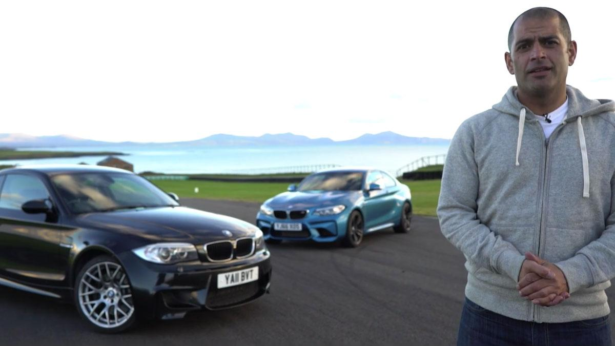 BMW M2 1M Coupé Chris Harris derrape comparativa deportivo vídeo