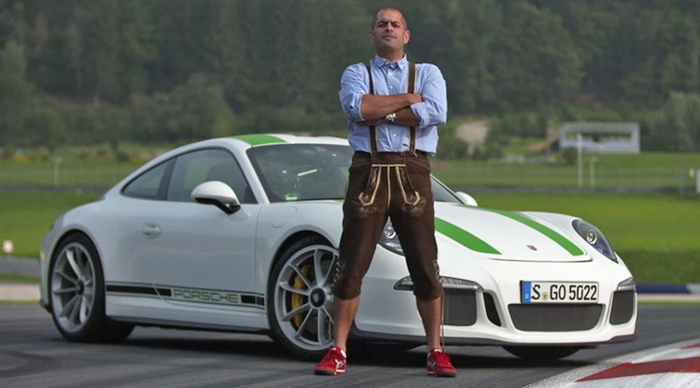 Chris Harris hace drifting con un Porsche 911 R