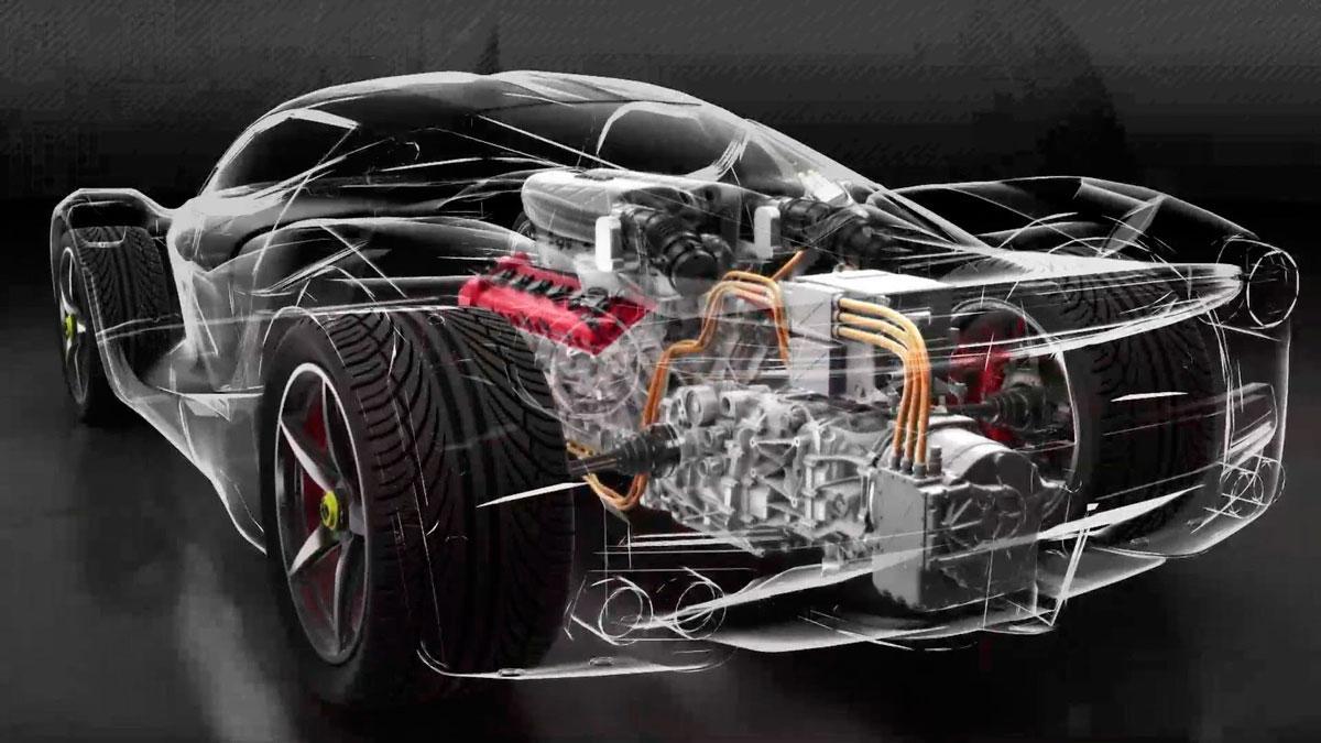 Ferrari híbrido hy-kers 2019 LaFerrari hybrid motor eléctrico V12