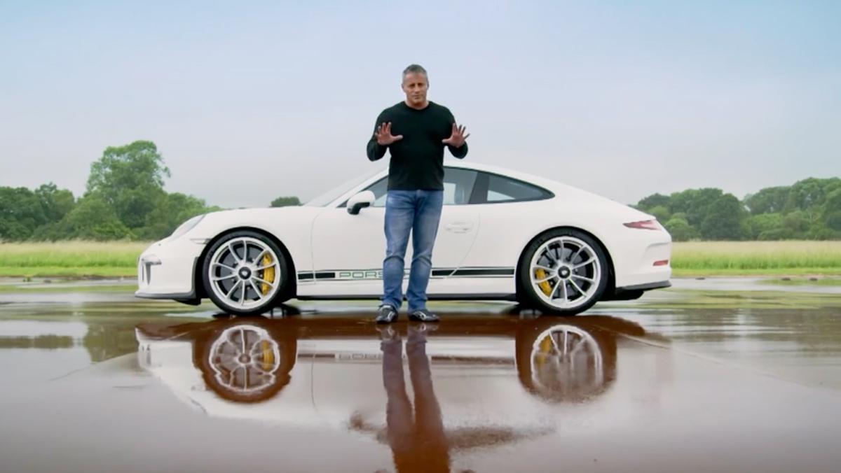 Matt LeBlanc en el Porsche 911 R