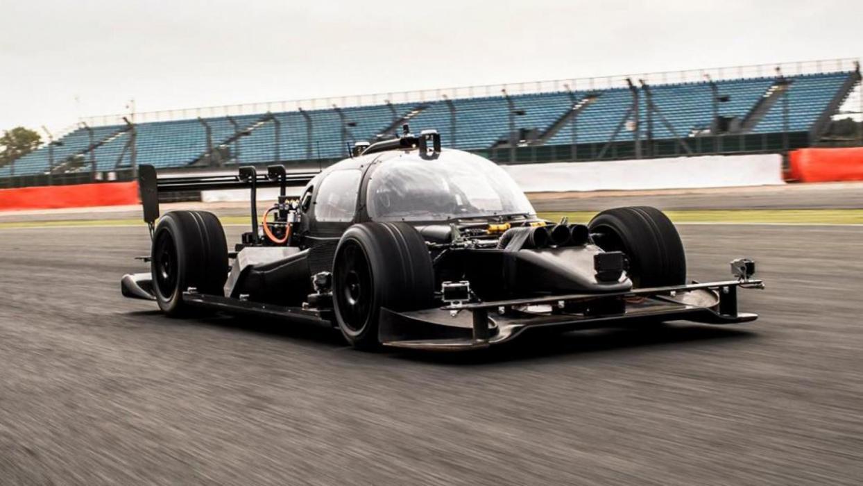 Roborace pruebas autonomo monoplaza coche eléctrico silverstone