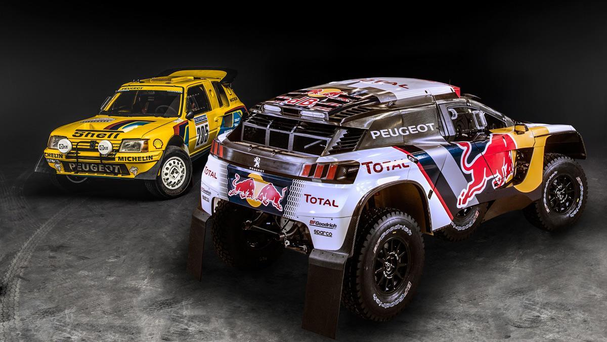 Dakar 2017: Peugeot 205 Turbo 16 vs Peugeot 3008 DKR (I)