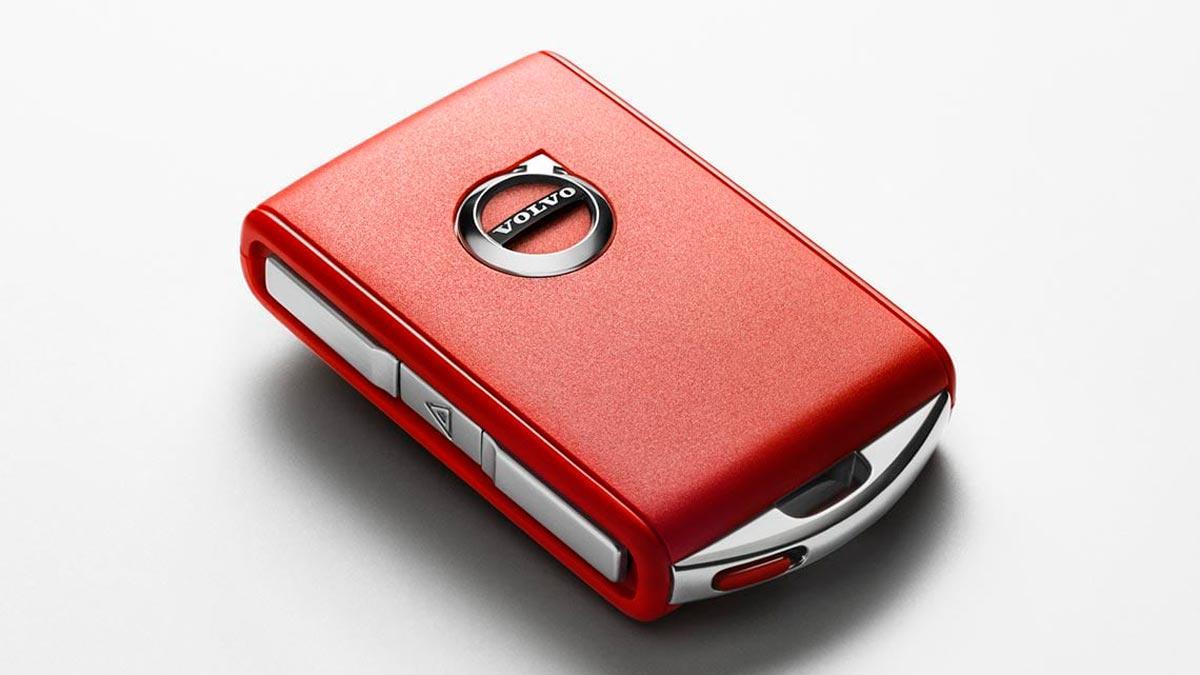 Llave roja de Volvo tecnología aparcacoches
