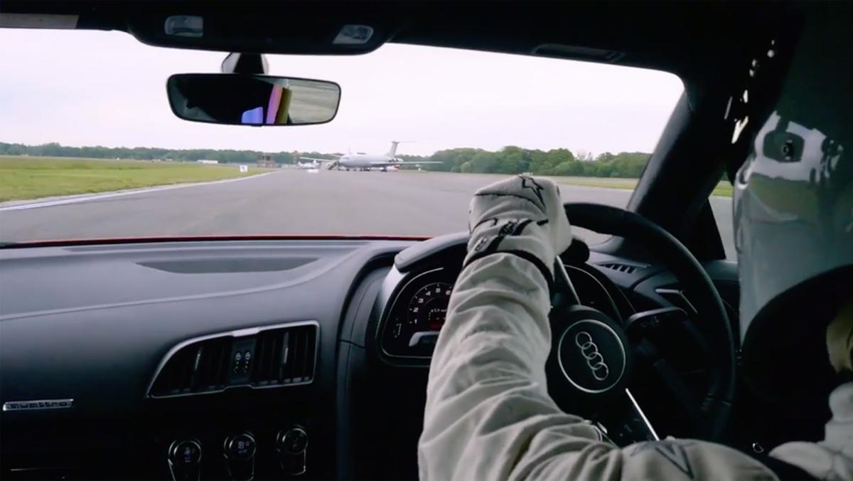 Stig en un Audi R8 V10 Plus
