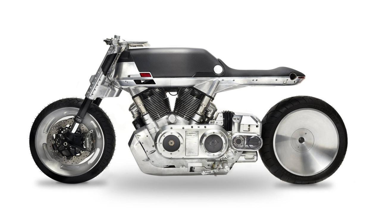 Vanguard Roadster moto futurista diseño artesanal motor motocicletas