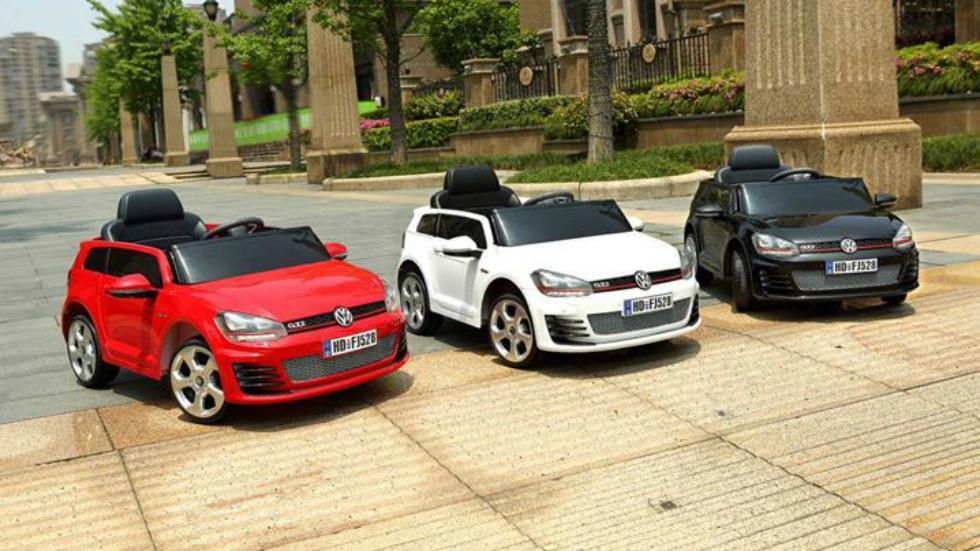 Volkswagen Golf GTI eléctrico de juguete