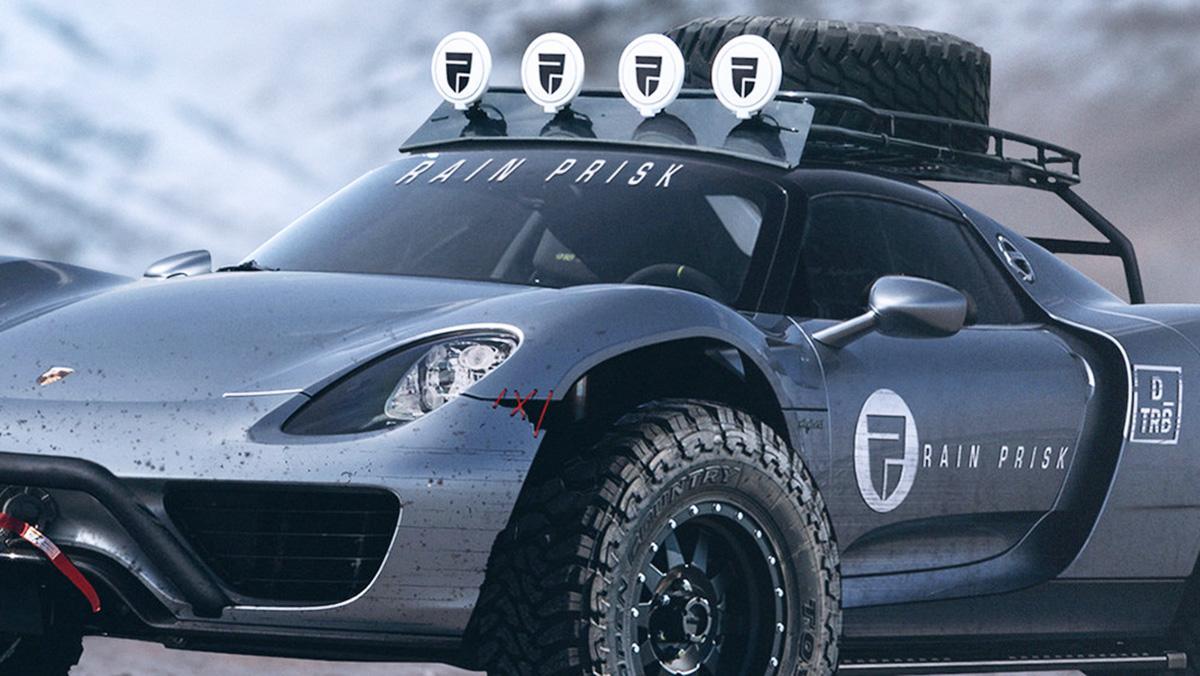 Así podría ser el bestial Porsche 918 todoterreno