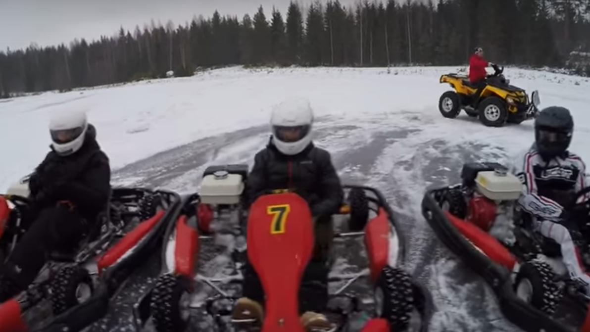 Kimi ejerce de Iceman...sobre ruedas
