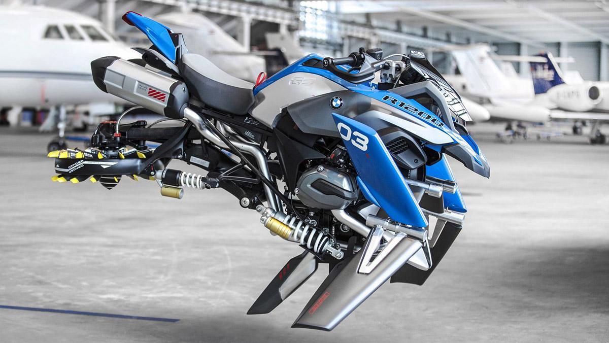 BMW lanza la moto voladora. De Lego