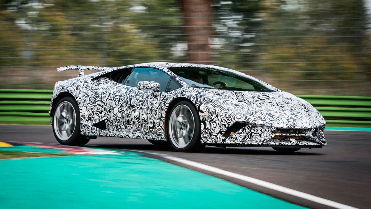 Lamborghini Huracan Performante superdeportivo camuflado