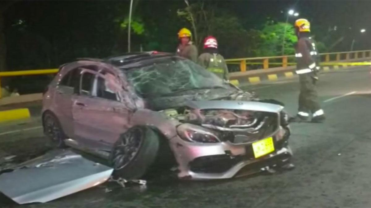 Accidente Mercedes en Colombia