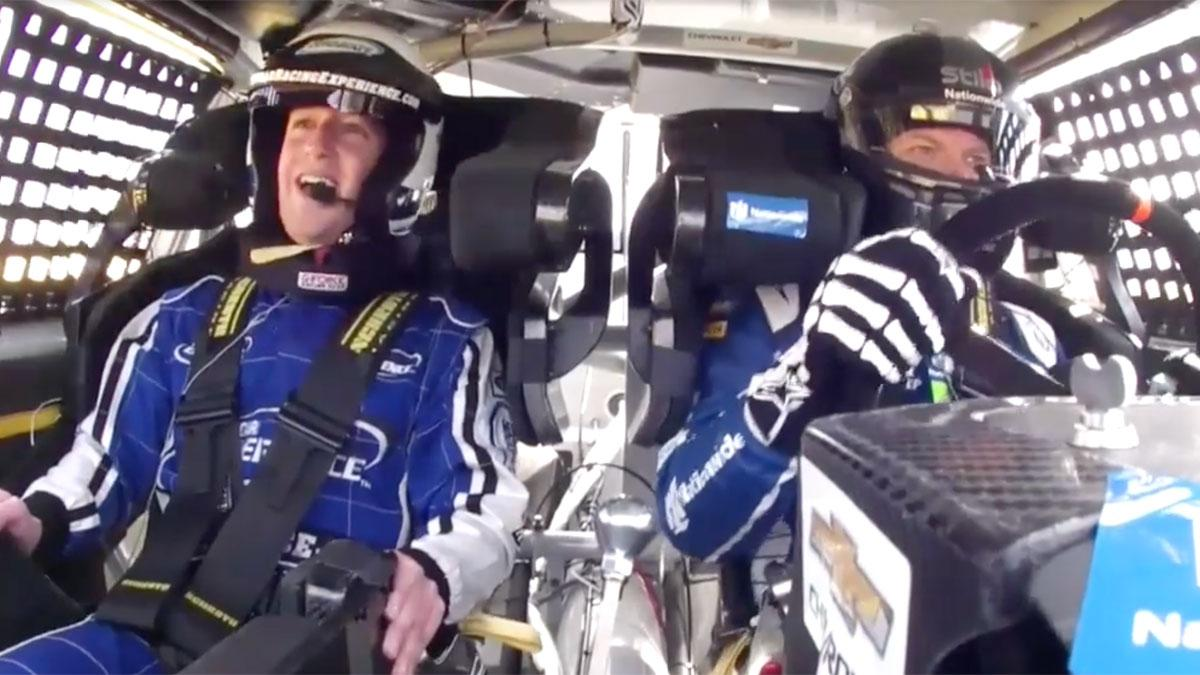 Mark Zuckerberg NASCAR onboard