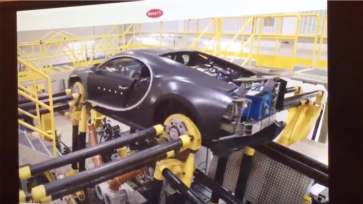 Test prueba componentes Bugatti Chiron