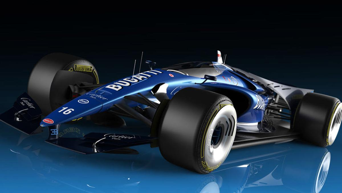 Bugatti 101P, el fórmula 1 de Bugatti del futuro