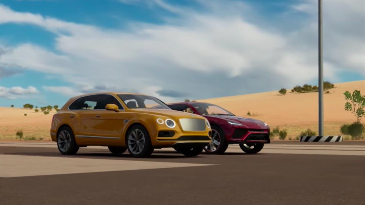Drag Race Bentley Bentayga Lamborghini Urus