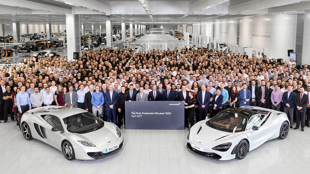 El primer McLaren 720S ha salido de la cadena de producción