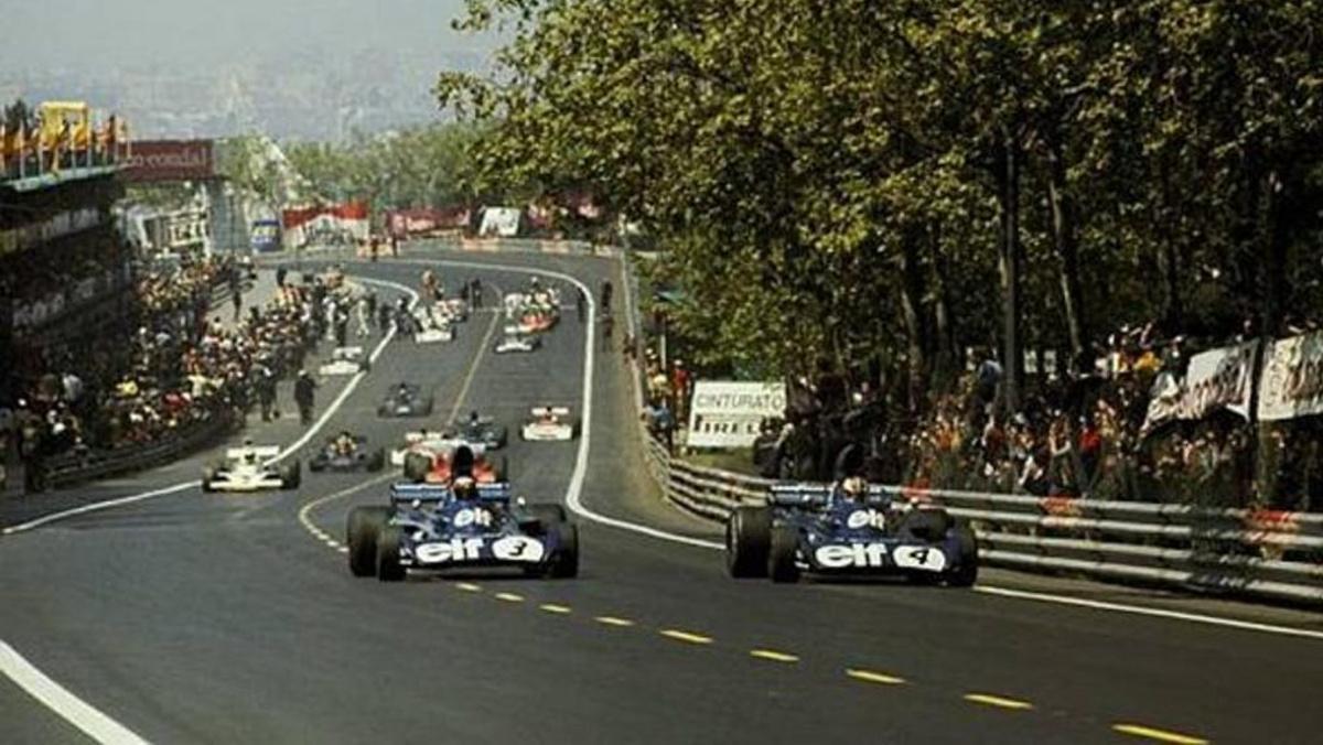 El GP de España 1975 disputado en Montjuic (Barcelona) única carrera en la que puntuó una mujer
