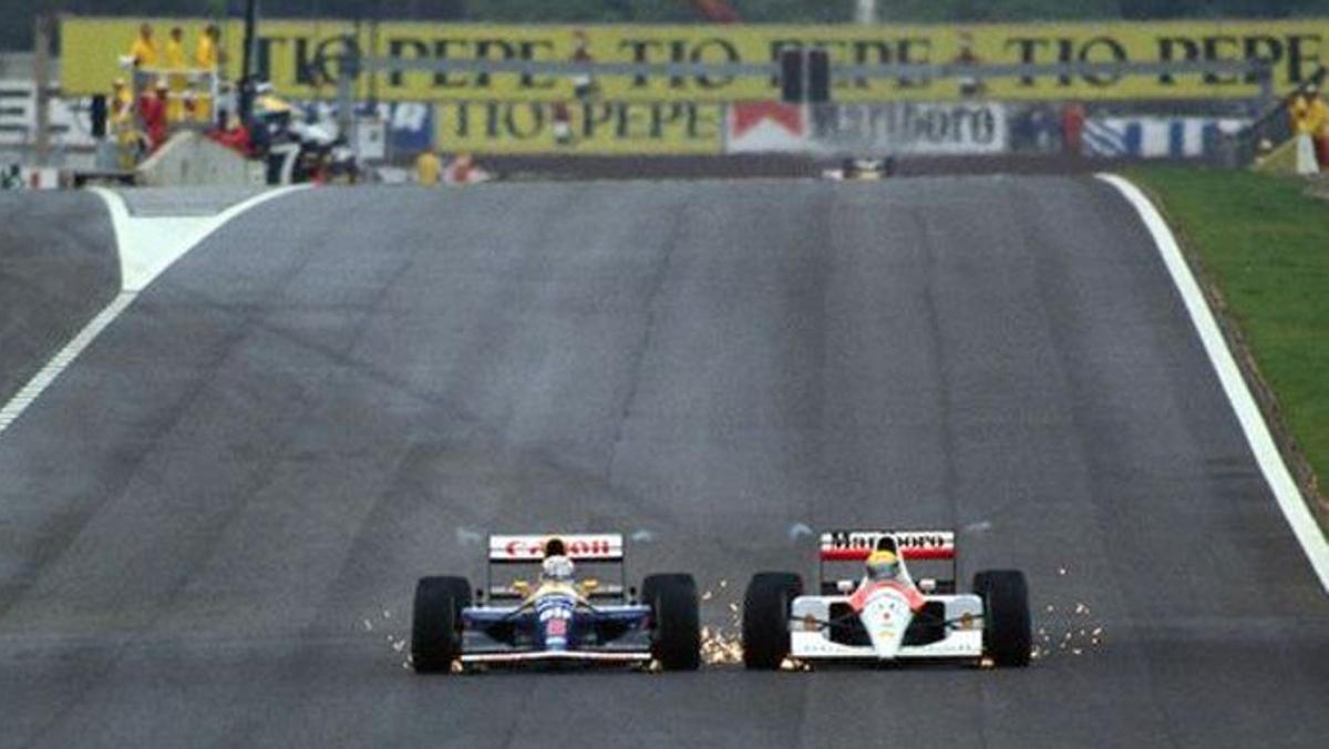 El GP de España ha vivido grandes duelos, pero ninguno como el Senna-Mansell del 91