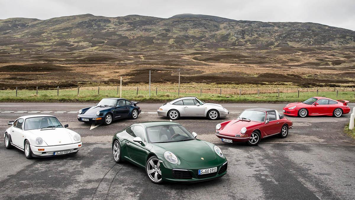De paseo por Escocia en los mejores 911 de la Historia
