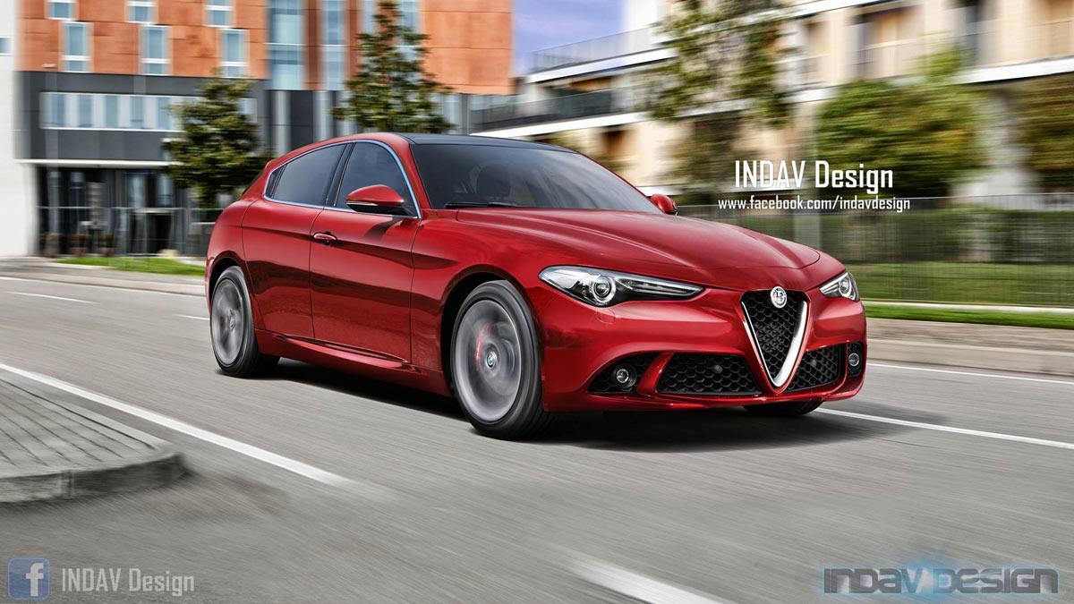 Alfa Romeo Giulietta 2019 render dibujo diseño