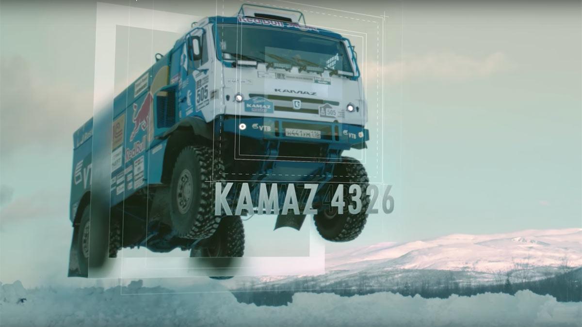 Salto del Kamaz 4326 nieve Red Bull Dakar