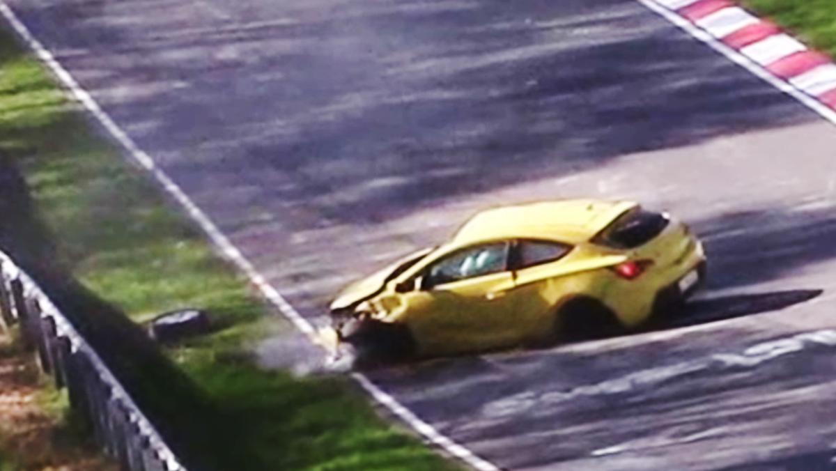 Cómo dejar siniestro un Opel GTC en Nürburgring