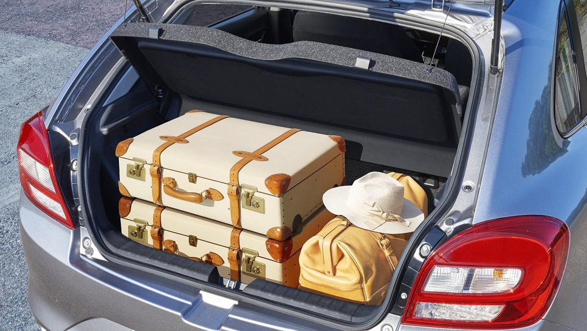 5 curiosidades del Suzuki Baleno - Su maletero tiene 355 litros