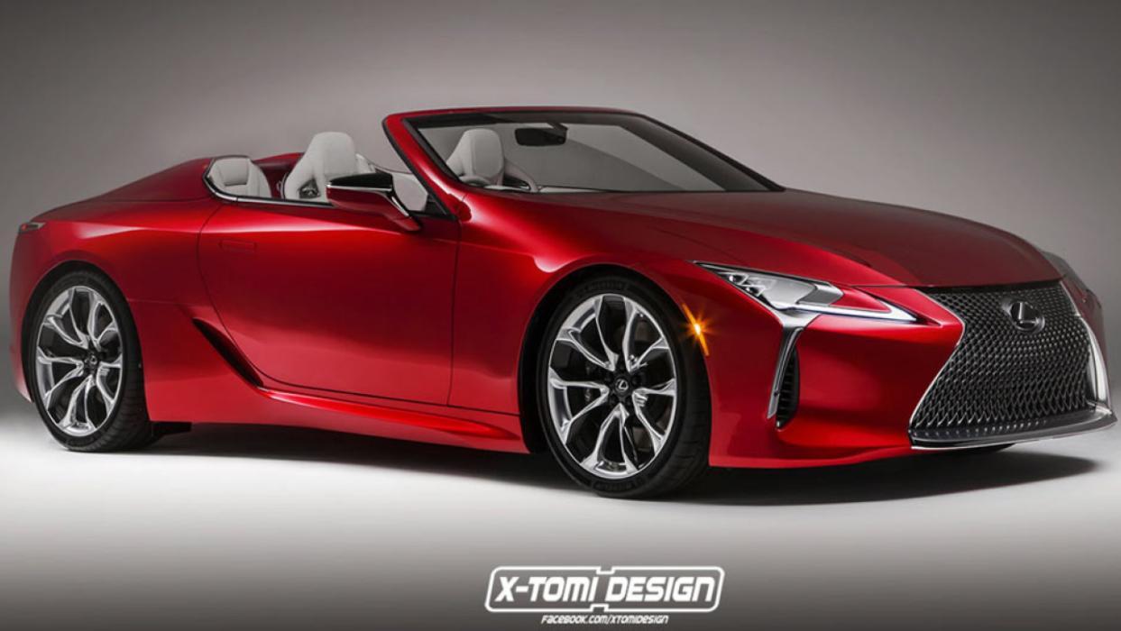 Lexus LC 500 Roadster render