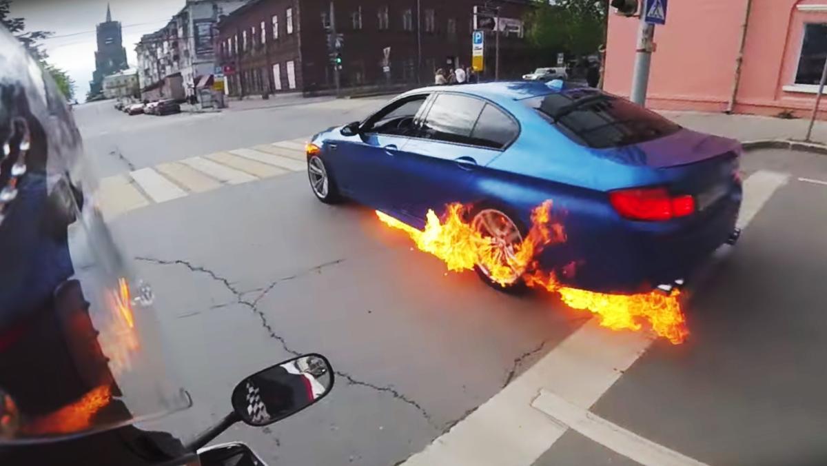 Lo que NO debes hacer si tu BMW M5 sale ardiendo