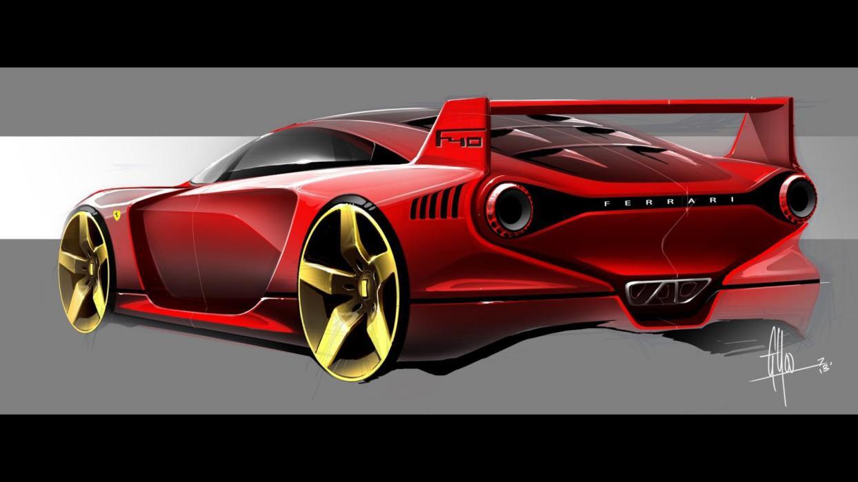 Render Ferrari F40 moderno (I)