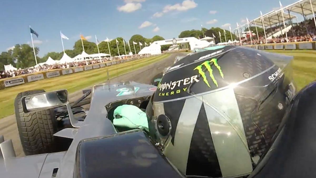 'On board' de Nico en Goodwood 2017