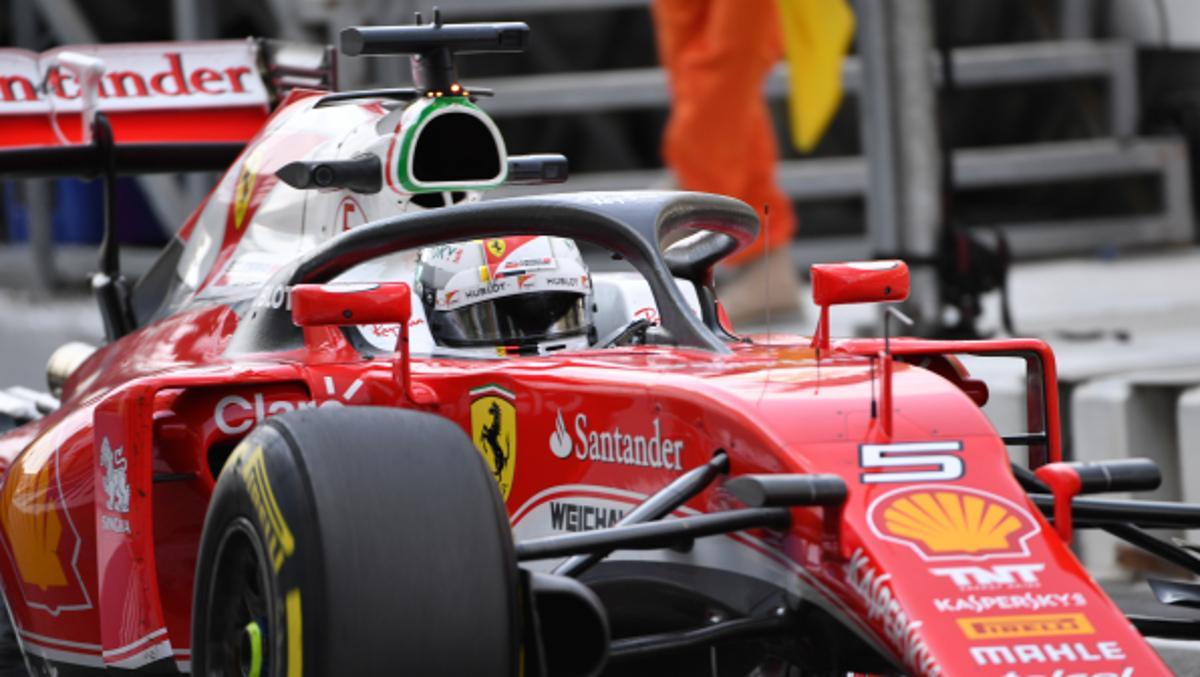 Halo Ferrari Vettel 2018