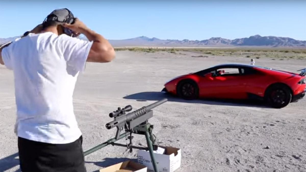 Lamborghini tiroteado