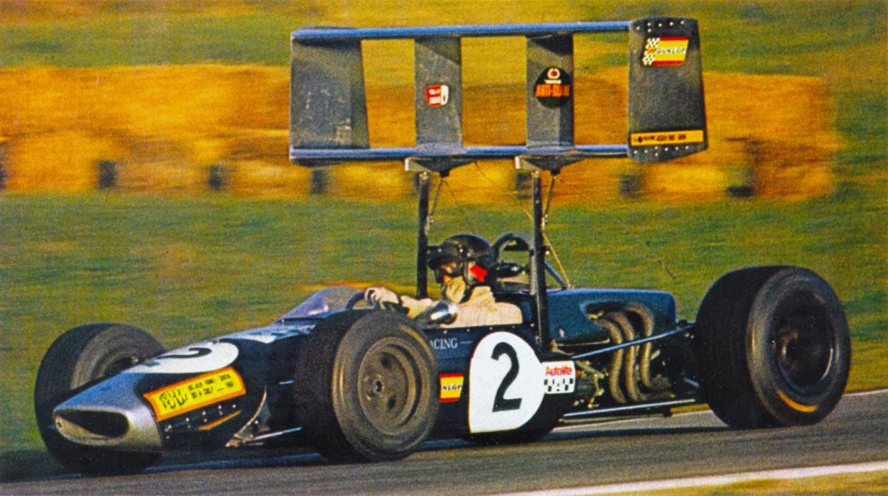Roy Winkelmann Racing Formula 2 Brabham BT23C-Cosworth Ford at Albi in the F2 race there in October, 1968