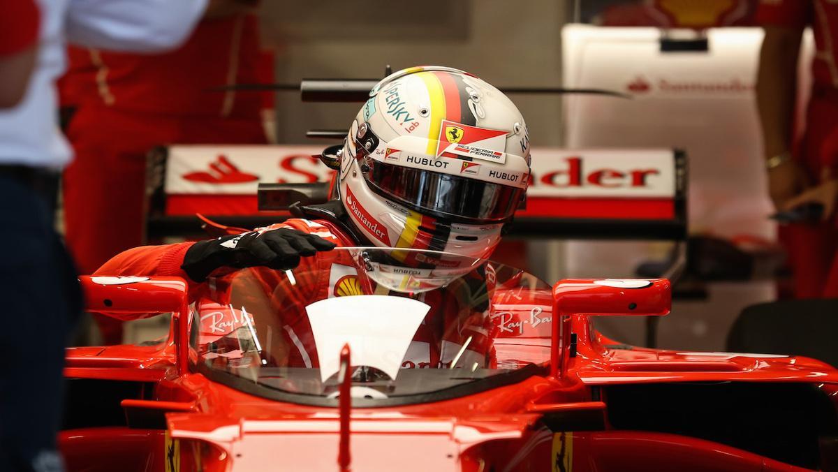 Vettel, la cobaya del Shield