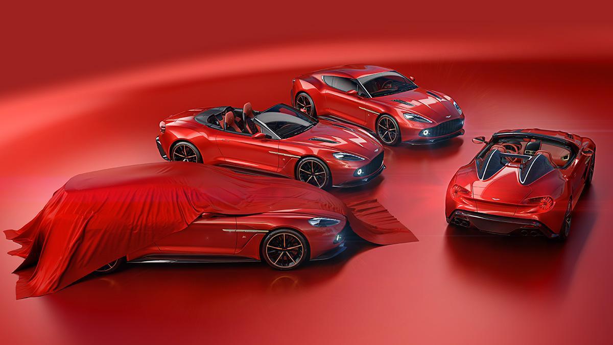La familia Aston Martin Vanquish Zagato
