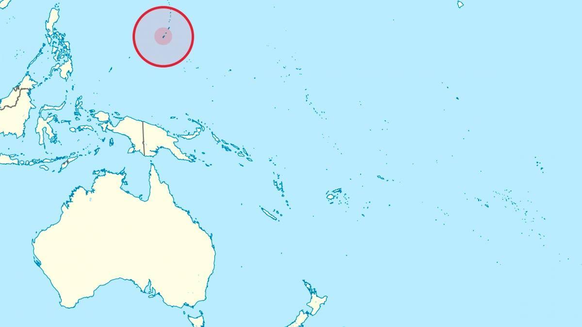 Isla de Guam mapa