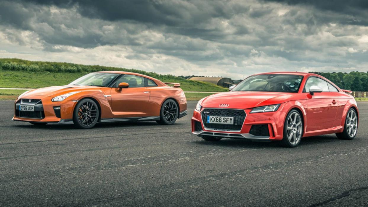 Nissan GT-R vs Audi TT RS