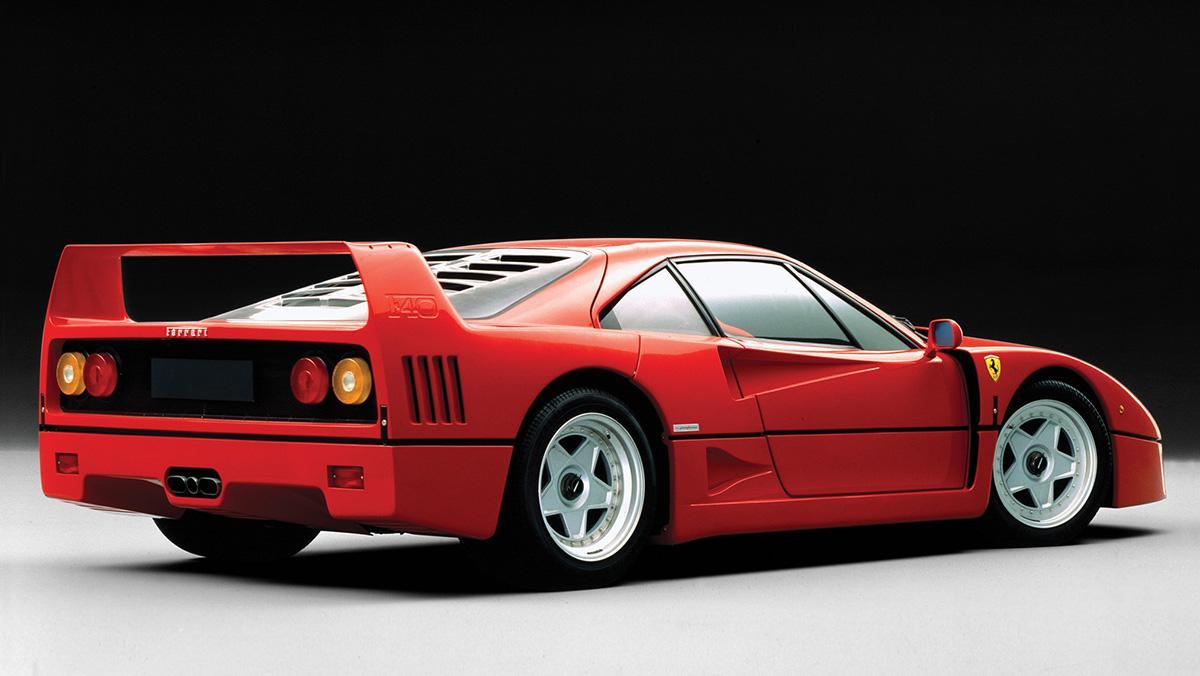 10 coches de póster - Ferrari F40