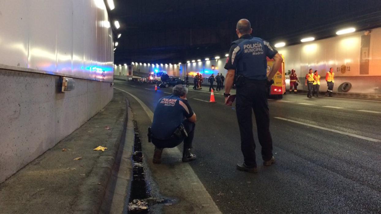 Accidente túnel M-30