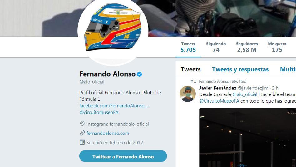 Alonso borra a McLaren de su Twitter